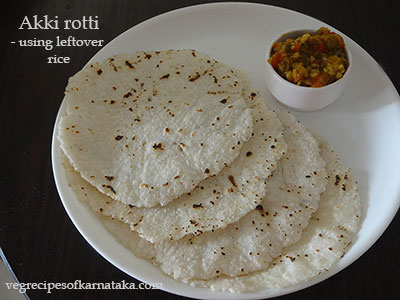 akki rotti using leftover rice