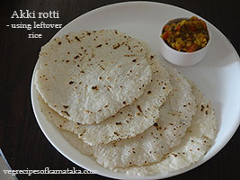 cooked rice roti recipe