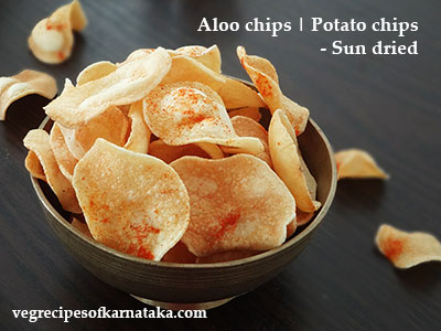 sun dried potato chips, sun dried aloo chips recipe