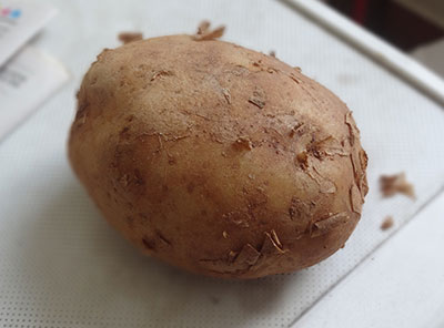 raw potato for potato chips or alugadde chips