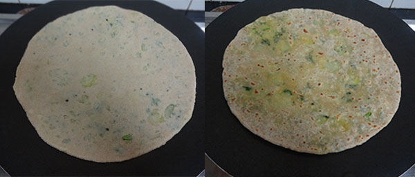 cooking aloo paratha