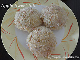 apple sweet idli recipe