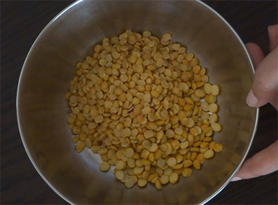 rinse and soak toor dal and channa dal for avalakki nuchinunde or nucchinunde