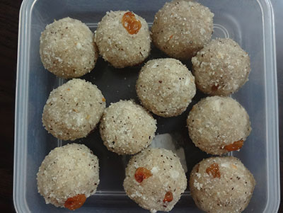 avalakki unde or poha laddu or aval ladoo