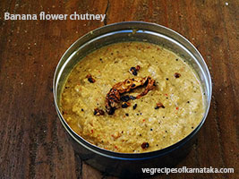 Baale hoovu or Banana flower chutney