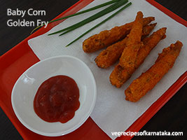 baby corn golden fry recipe