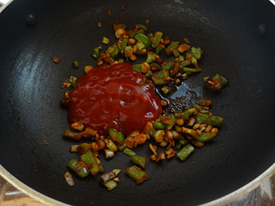 tomato and soya sauce for baby corn manchurian sauce