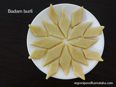 Badam burfi recipe