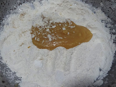 flour and ghee for badam puri or badami poori