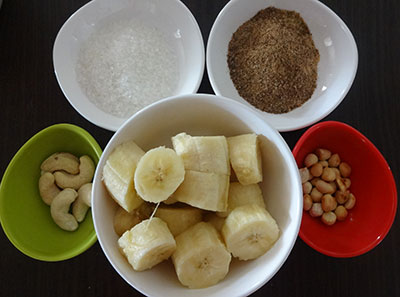 ingredients for banana milkshake or sharjah shake