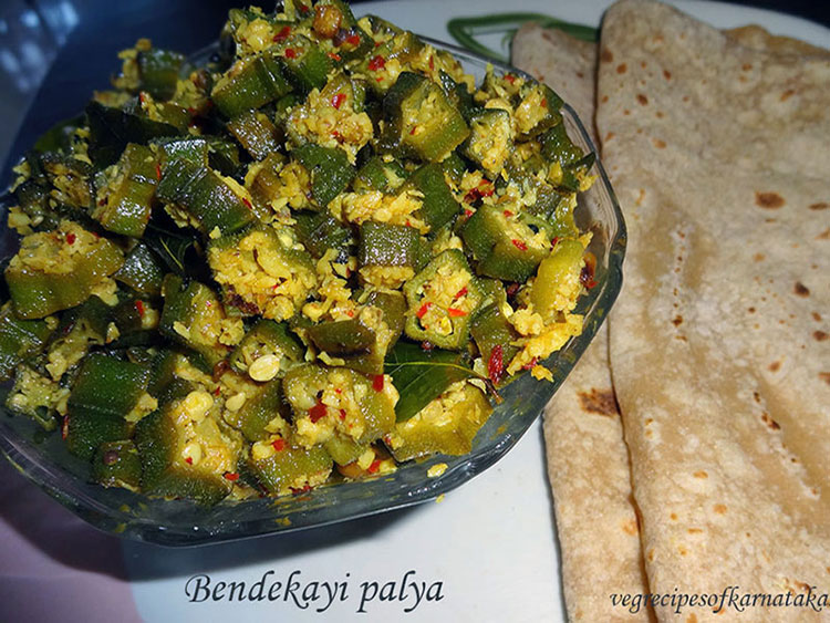 bendekayi palya or ladies finger stir fry