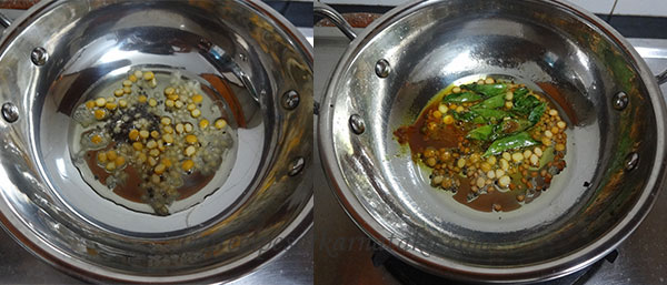 tempering for bendekayi palya or bhindi fry