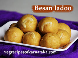 besan laddu or ladoo recipe