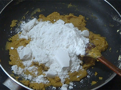 powdered sugar for besan ladoo or besan unde