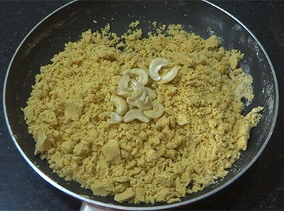gram flour, ghee and sugar for besan ladoo or besan unde