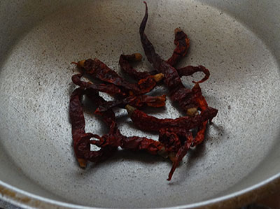 red chilis for bisi bele bath powder