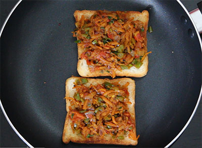 iyengar bread toast or masala bread toast