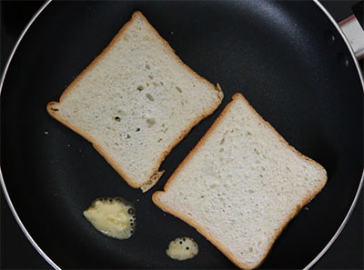 toasting bread for iyengar bread toast or masala bread toast