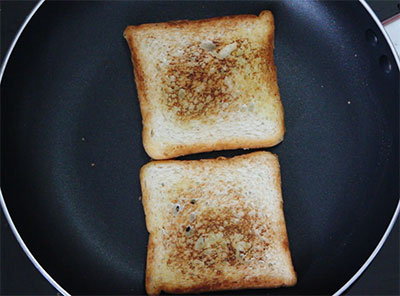 toasted bread for iyengar bread toast or masala bread toast