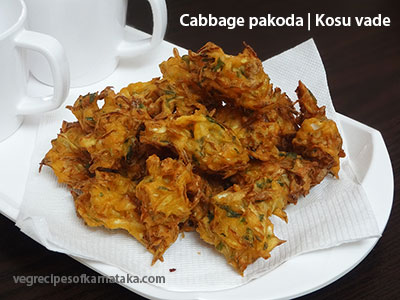 cabbage pakoda or kosu vade recipe