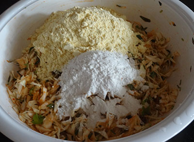 flours for cabbage pakoda or kosu vade