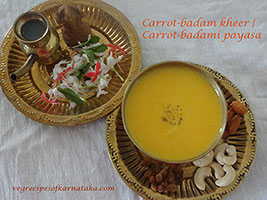 Carrot badami payasa recipe