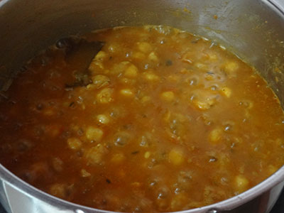 boiling chana masala or chole masala