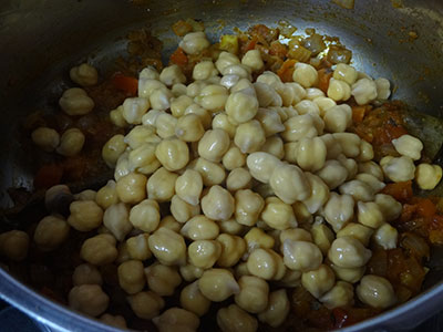 soaked chickpeas for chana masala or chole masala