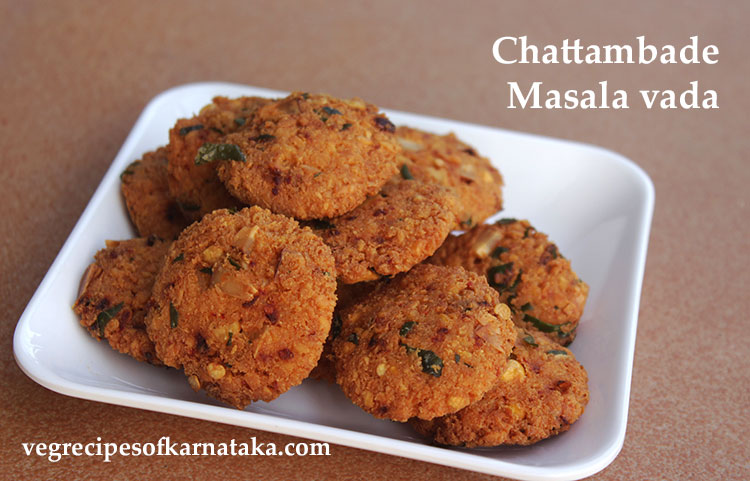 masala vada or masale vade or ambode or chattambade recipe