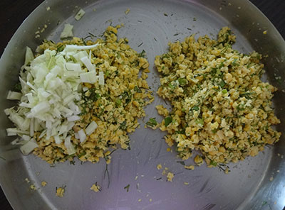 onion or cabbage for masala vada or masala vade or chattambade or ambode