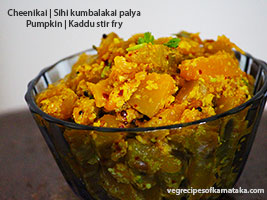 Pumpkin palya or stir fry