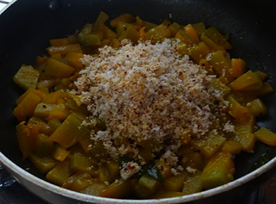 ground masala for sihi kumbalakai palya or pumpkin stir fry
