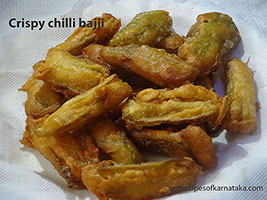 crispy chilli bajji recipe