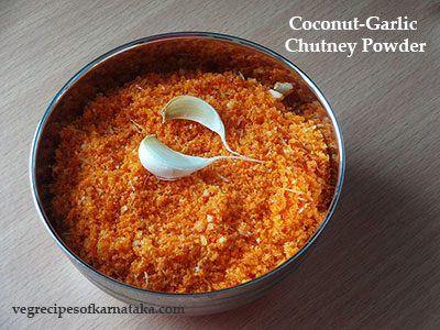 coconut garlic chutney powder recipe