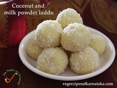coconut and milk powder ladoo recipe