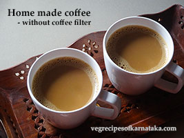 coffee recipe without coffee filter