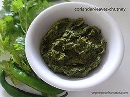 Coriander leaves thokku recipe