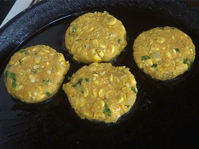 shallow frying corn cutlet or jola cutlet