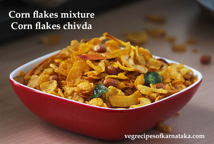 corn flakes mixture or cornflakes chivda
