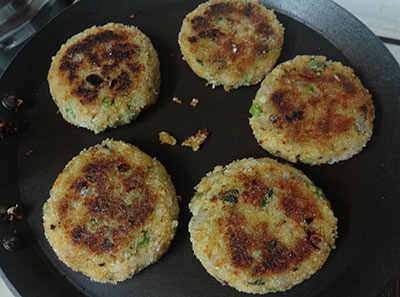 shallow frying cutlet or potato peas cutlet