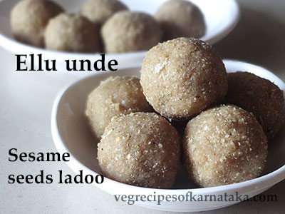 ellu unde or sesame seeds ladoo recipe