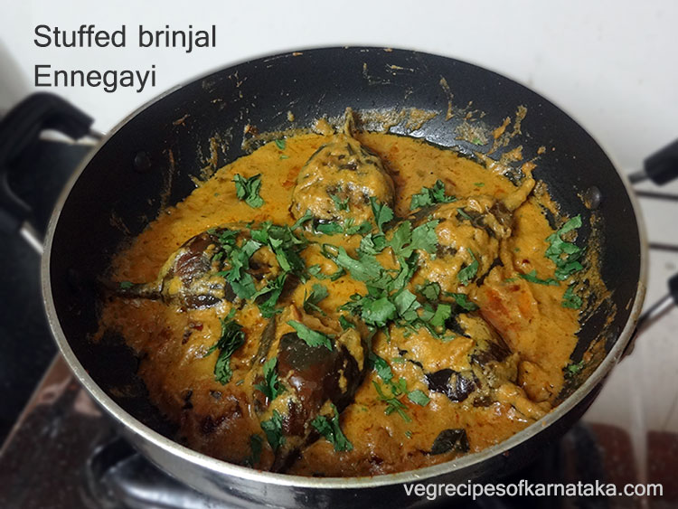 Ennegayi recipe or thumbida badanekayi