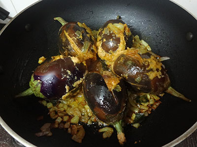 cooking brinjals for ennegayi