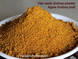 flax seeds chutney powder recipe