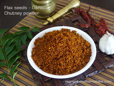 agase chutney pudi or flax seeds chutney powder