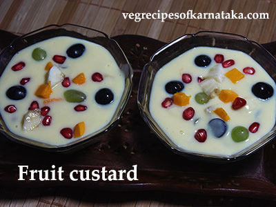fruit custard or fruit salad recipe