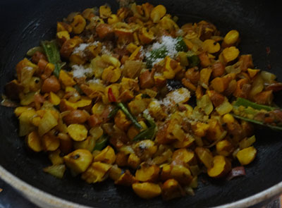 salt for halasina beejada palya or jackfruit seeds stir fry
