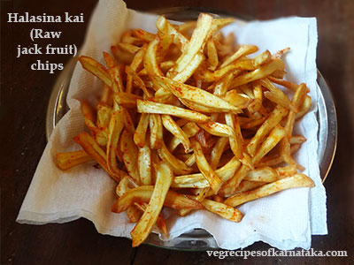 halasinakai or raw jackfruit chips recipe