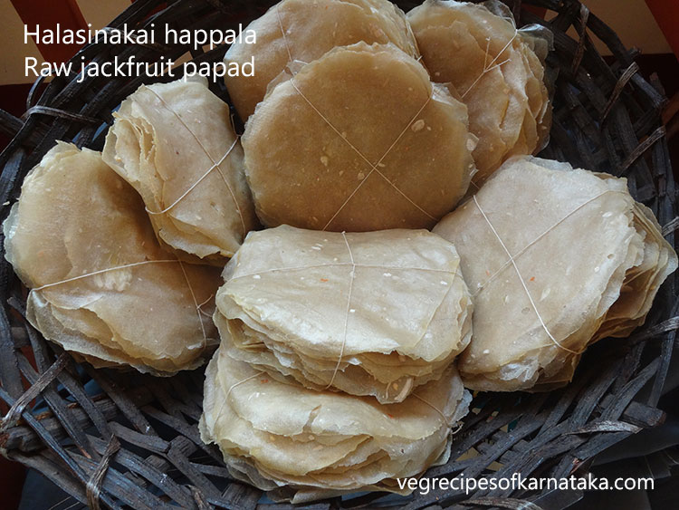 Halasinakai happala or jack fruit papad