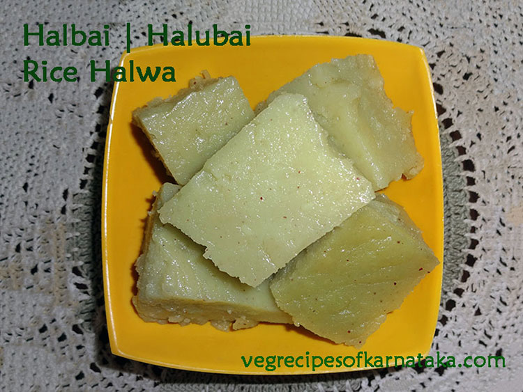 halubai or halbai recipe